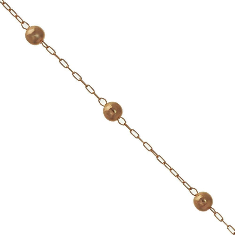 "18K GL Rose Polished Ball Bracelet Ball 8"" - Donna Italiana ®"