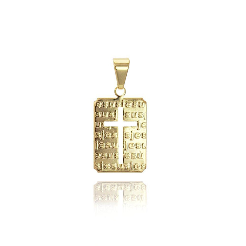 18K GL Tag Jesus Cross Pendant - Donna Italiana ®