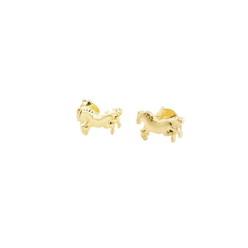 18k GL Tiny Pony Earrings - Donna Italiana ®