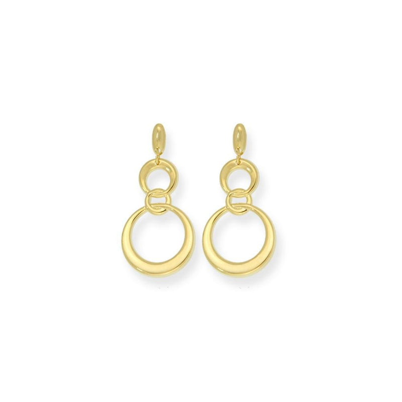 18k GL Triple Circles Earrings - Donna Italiana ®