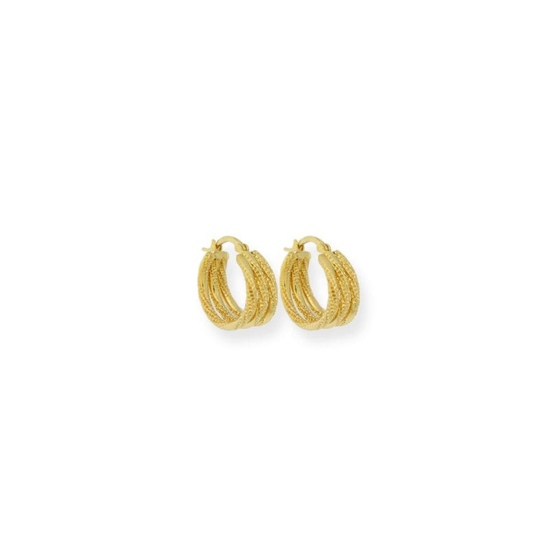 18k GL Triple Hoop 15mm - Donna Italiana ®