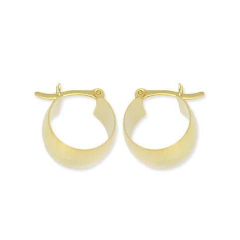 18k GL Versalles Barrel Hoop Polished - Donna Italiana ®