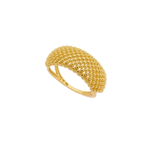 18K Gold Layer Caviar Ring - Donna Italiana ®