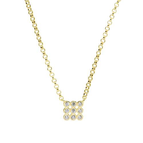 18K Gold Layer Cleo Necklace - Donna Italiana ®