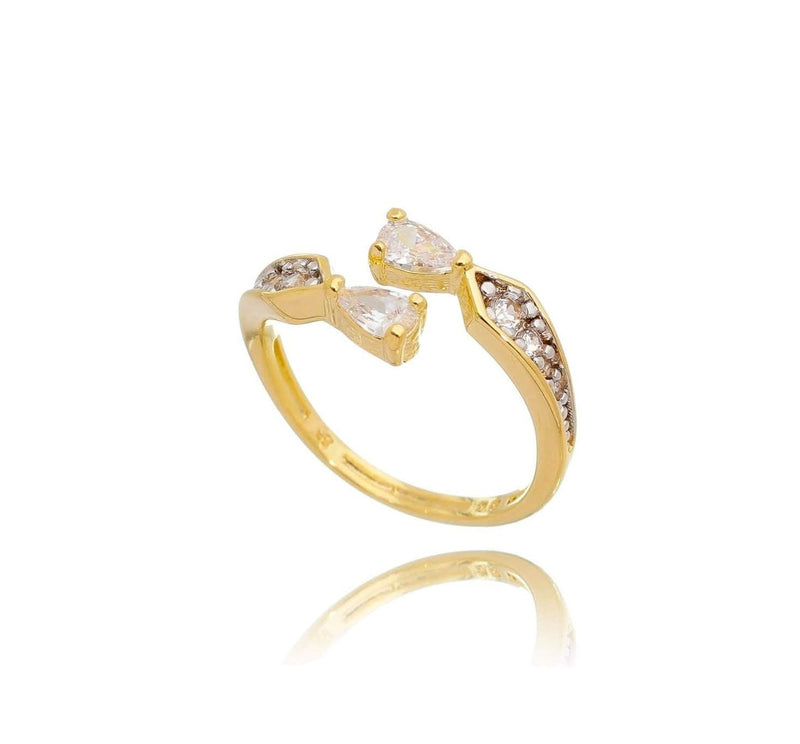 18K Gold Layer Cubic Zirconia Wrap Ring - Donna Italiana ®