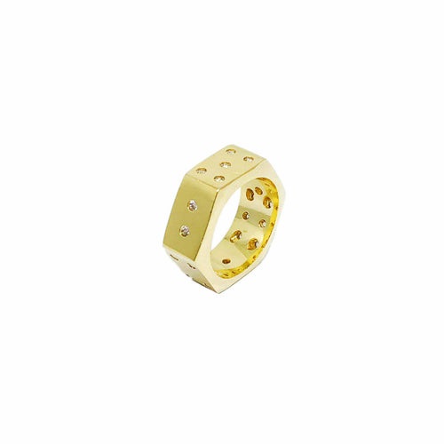 18K Gold Layer Dice ring - Donna Italiana ®