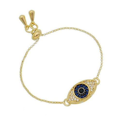 18K Gold Layer Evil Eye Bracelet - Donna Italiana ®