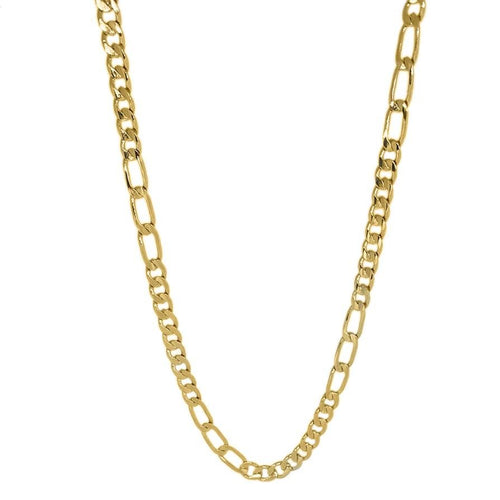 18k Gold Layer Figaro 3x9 chain - Donna Italiana ®