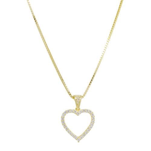 18K Gold Layer Heart Necklace - Donna Italiana ®