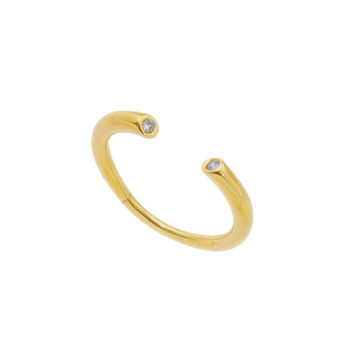 18K Gold Layer Open Ring - Donna Italiana ®