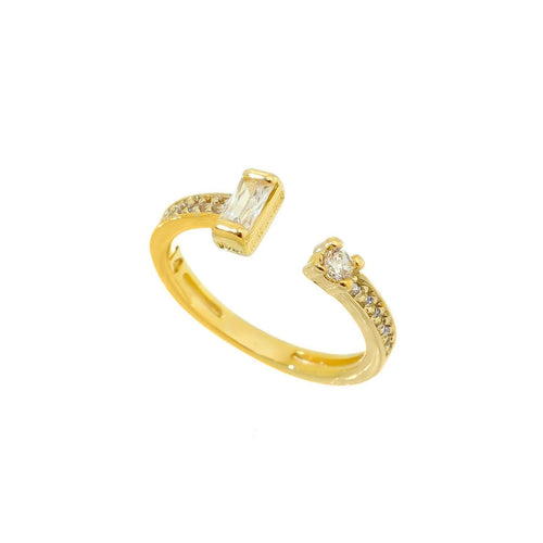 18K Gold Layer Open Shape Ring - Donna Italiana ®