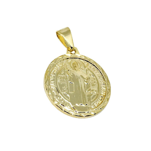 18K Gold Layer Saint Benedict Medal - Donna Italiana ®
