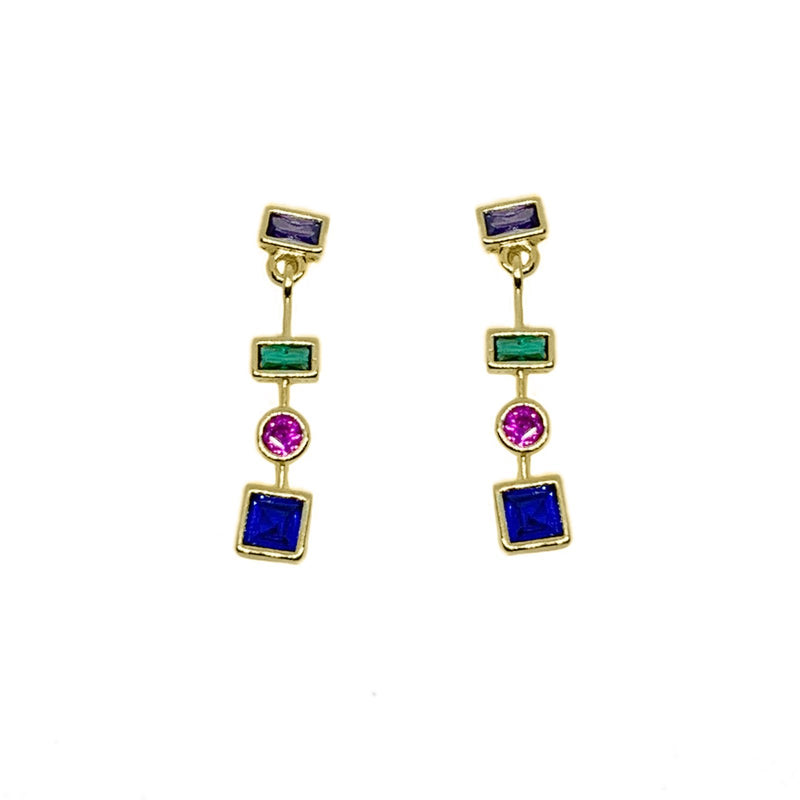 18K Gold Layer Summer Drop Earrings - Donna Italiana ®