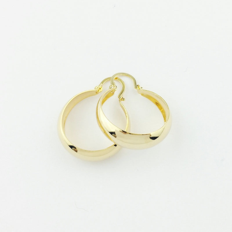 18KGL 20MM HC HOOP EARRINGS - Donna Italiana ®