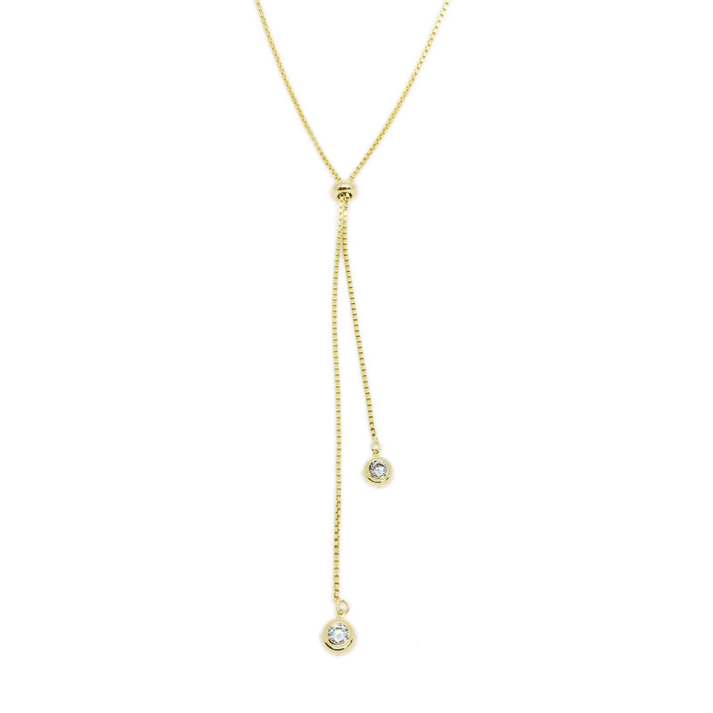 18kGL Ashby Lariat Necklace - Donna Italiana ®