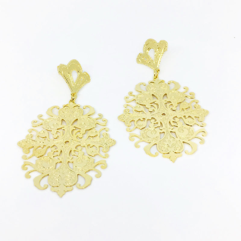 18KGL BEIRUTE CRAQUELURE EARRINGS - Donna Italiana ®