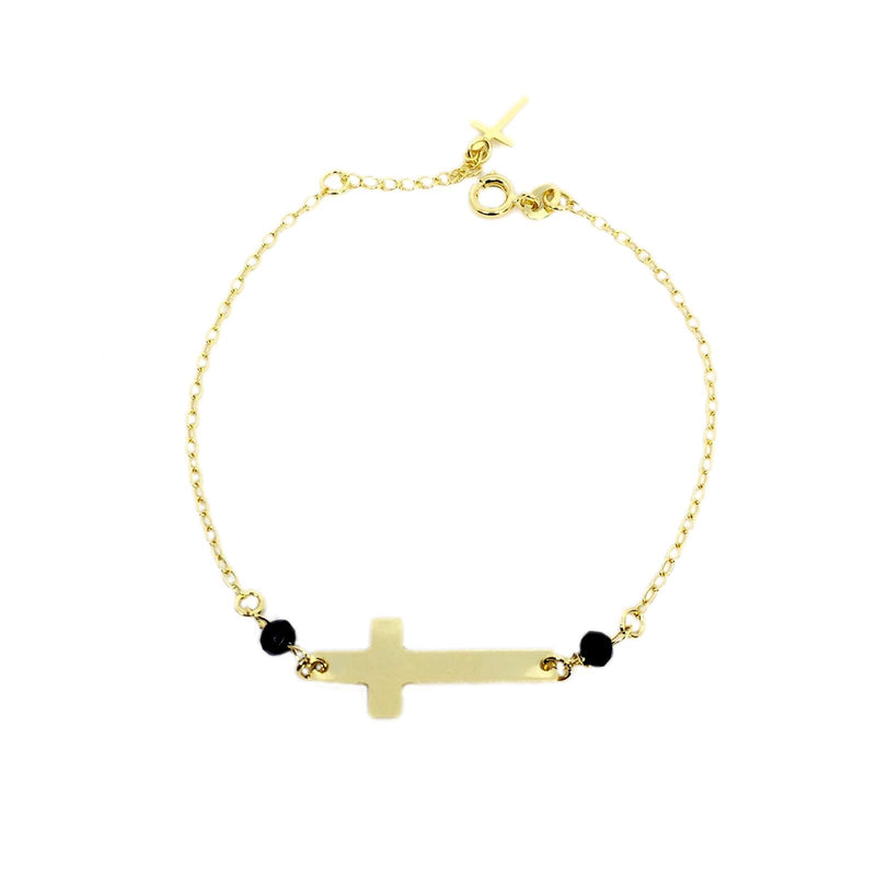 18KGL Belief Cross Bracelet - Donna Italiana ®