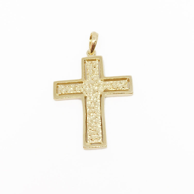 18KGL Cast Cross Pendant - Donna Italiana ®