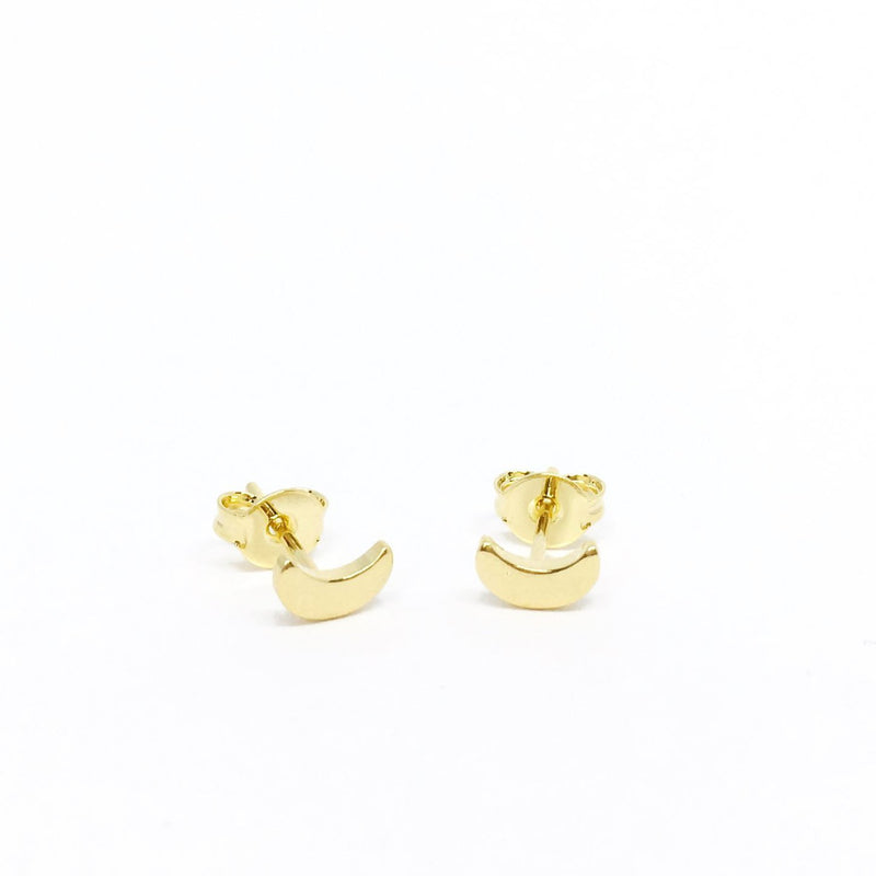 18KGL Crescent Moon Stud - Donna Italiana ®