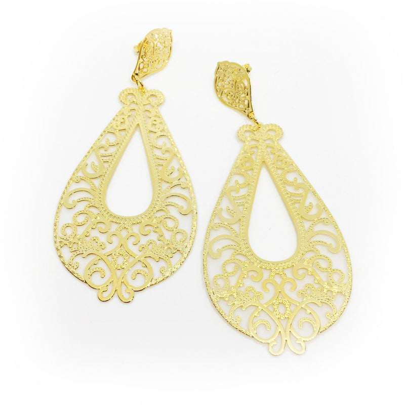 18KGL Dijon Drop Earrings - Donna Italiana ®