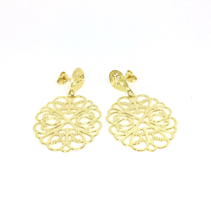 18KGL FILIGRANA VEARO EARRINGS - Donna Italiana ®