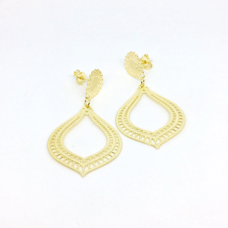 18KGL GOTA LIZ SMALL EARRINGS - Donna Italiana ®