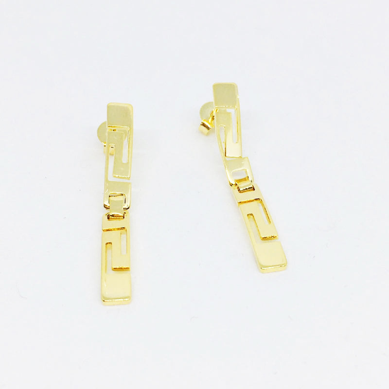 18KGL GREEK PATH EARRINGS - Donna Italiana ®