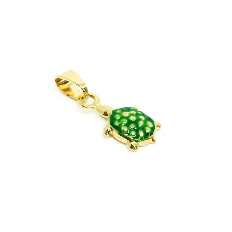 18KGL Green Turtle Charm - Donna Italiana ®