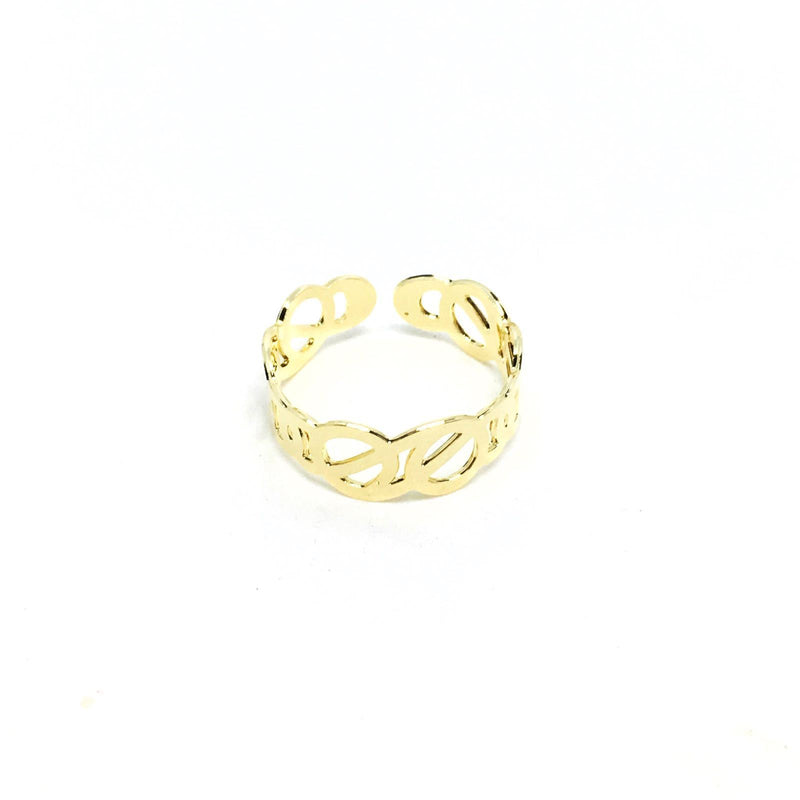18KGL INTERTWINED G RING - Donna Italiana ®