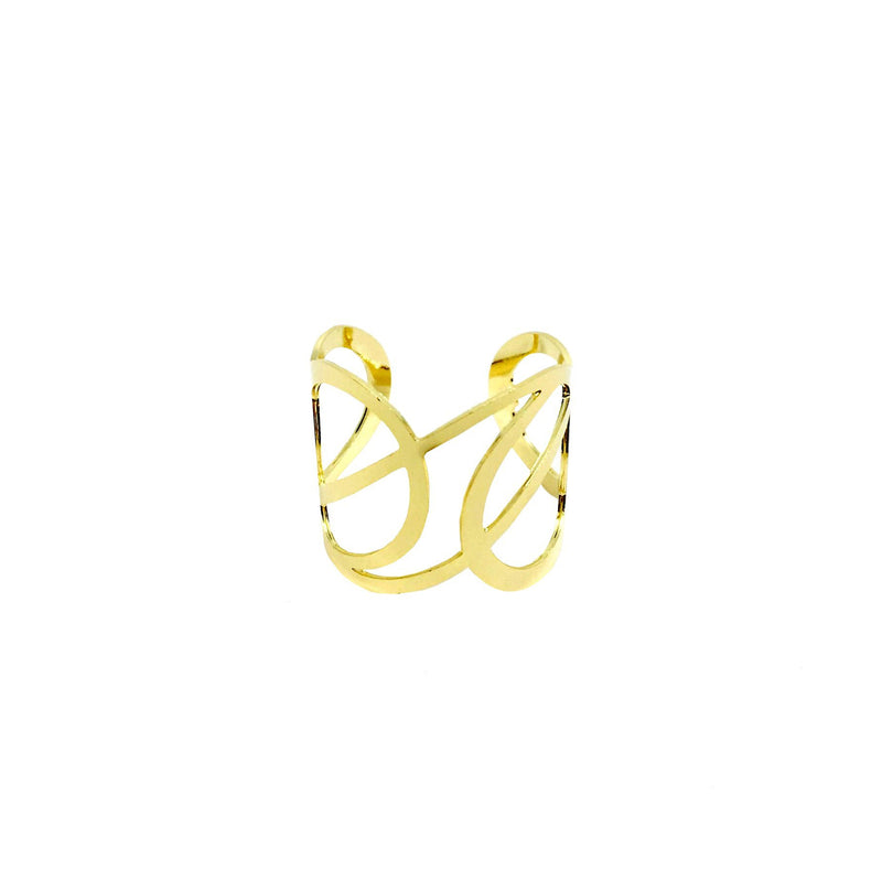18KGL INTERTWINED RING - Donna Italiana ®