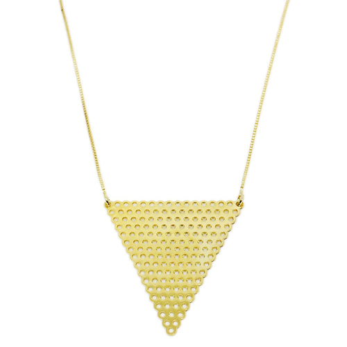 18KGL Inverted Triangle Necklace - Donna Italiana ®