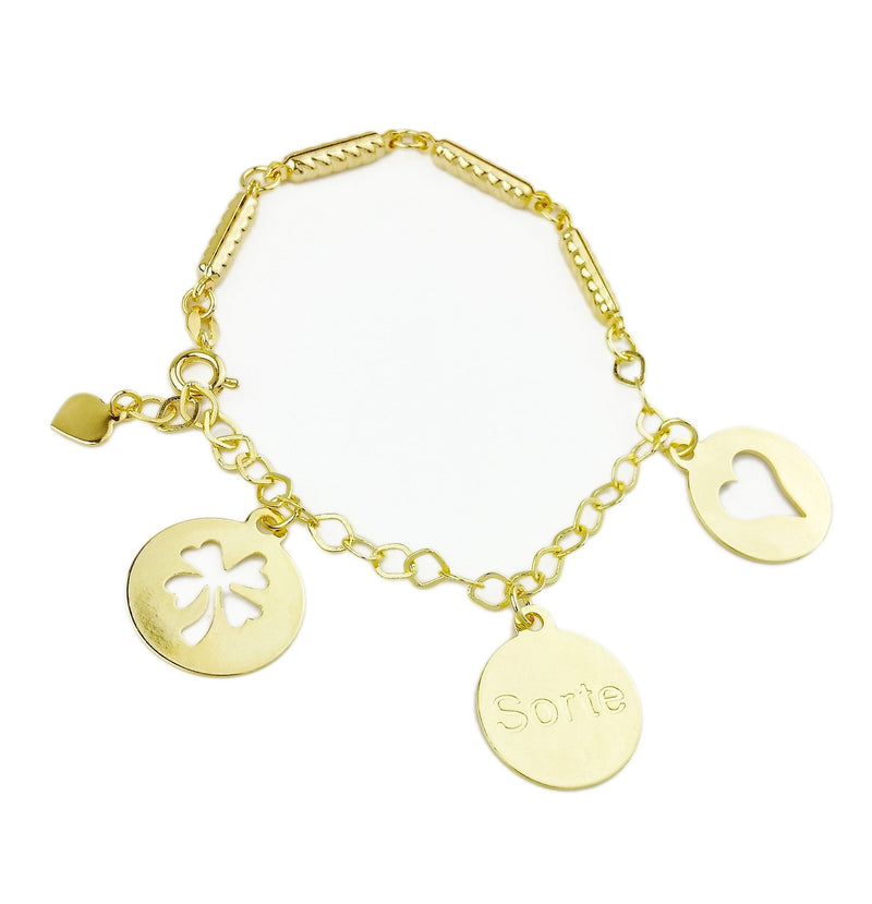 18KGL Lucky Charms Bracelet - Donna Italiana ®