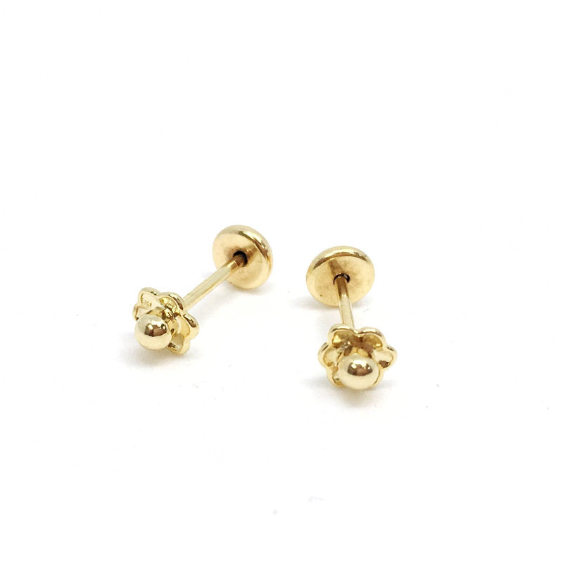 18kGL Mini flower stud - Donna Italiana ®
