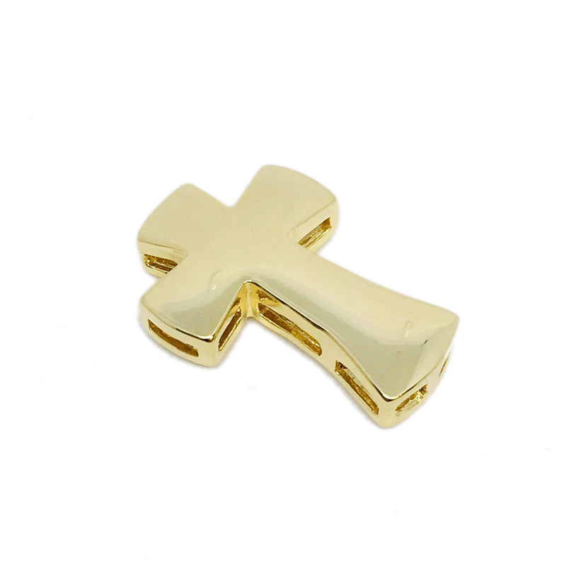 18KGL SLIDER CROSS PENDANT - Donna Italiana ®