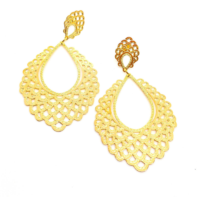 18KGL Spanish abanico earrings - Donna Italiana ®