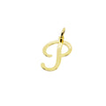 18K Gold Layer Initial Charm