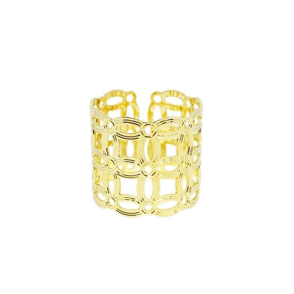 Adjustable Squared Detail Ring - Donna Italiana ®