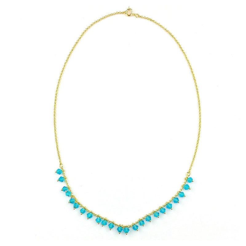 Aqua Beads Necklace - Donna Italiana ®
