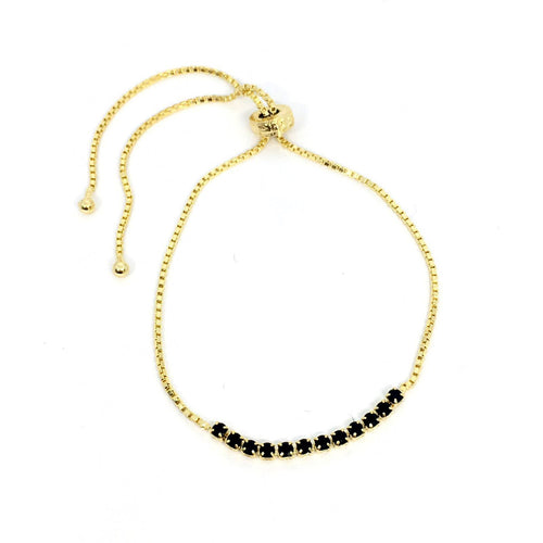 Black Cz Detail Bracelet - Donna Italiana ®