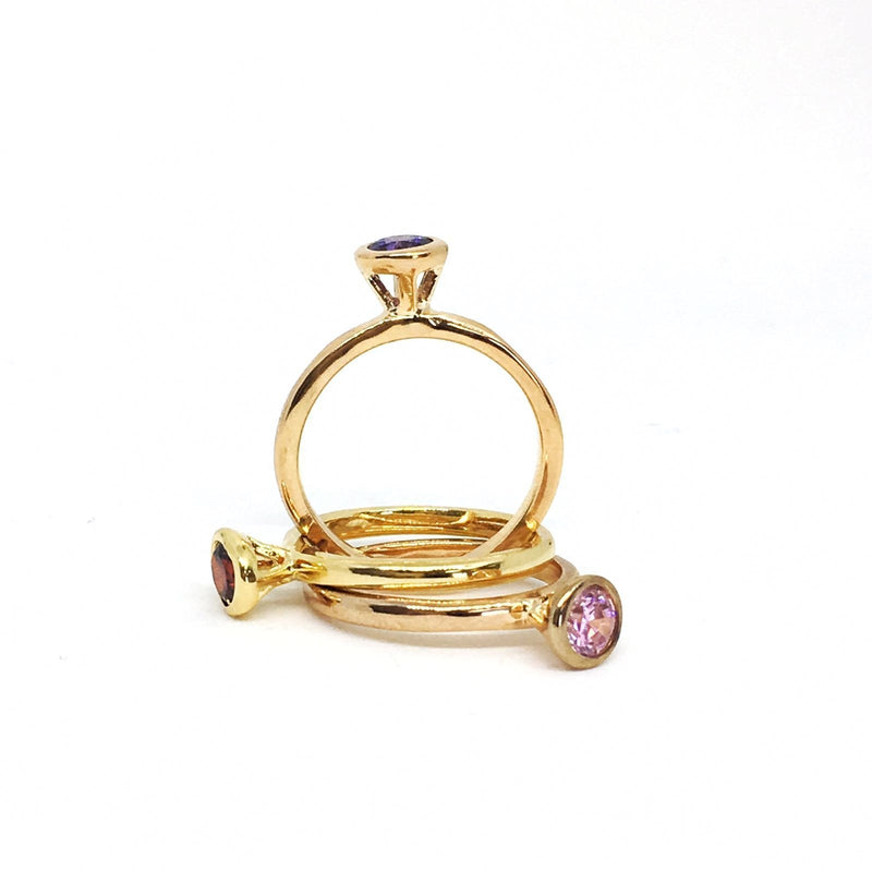 Colored Stone Stackable Rings - Donna Italiana ®
