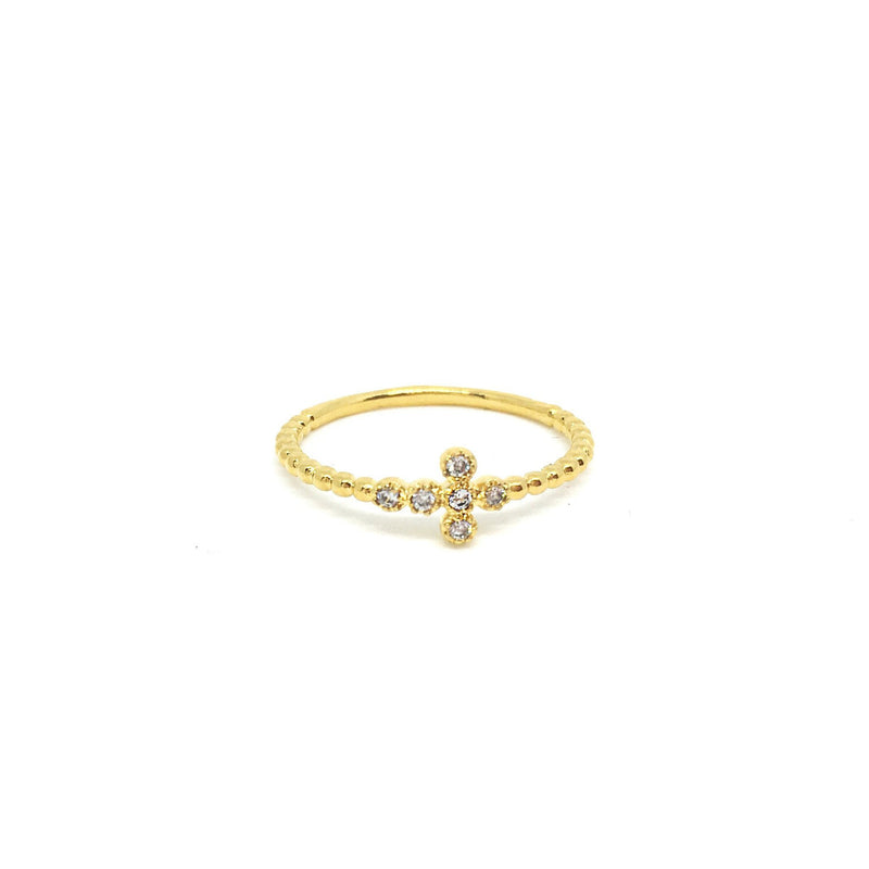 CZ Cross Ring - Donna Italiana ®