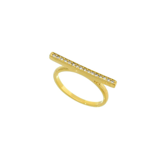 Flat Top Cubic Zirconia Ring - Donna Italiana ®