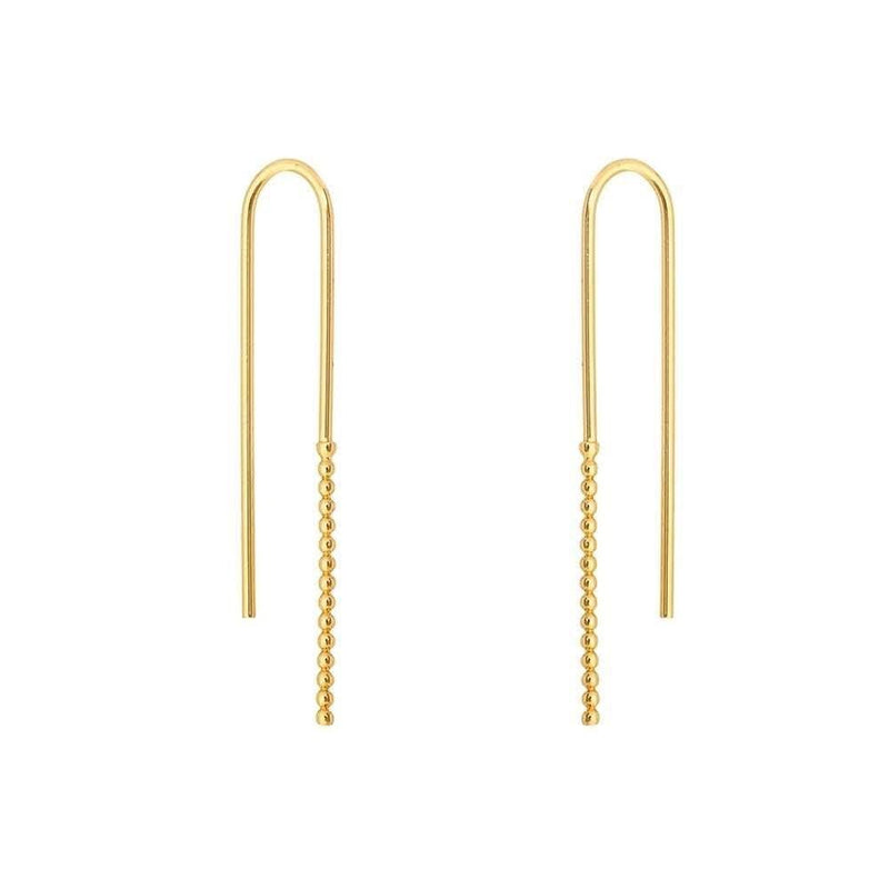 Long U drop Earrings - Donna Italiana ®