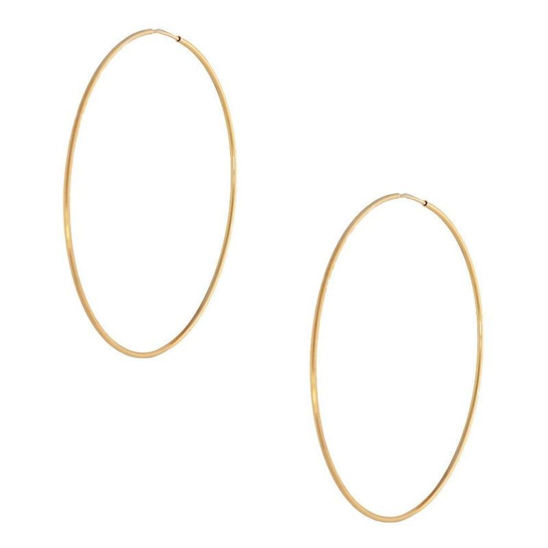 Rose Hoop Earring 70mm Cont - Donna Italiana ®