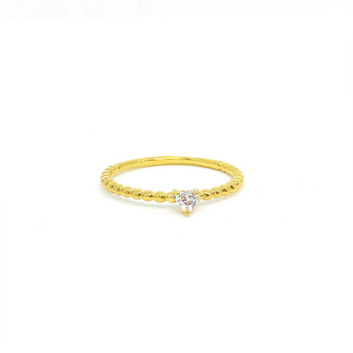 Tiny Heart Stackable Ring - Donna Italiana ®