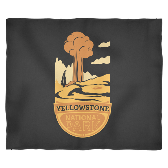 Yellowstone National Park Blanket Black Small