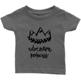 Adventure Princess Infant T-Shirt Dark Gray