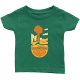 Yellowstone National Park Infant T-Shirt Green