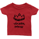 Adventure Princess Infant T-Shirt Red