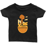 Yellowstone National Park Infant T-Shirt Black